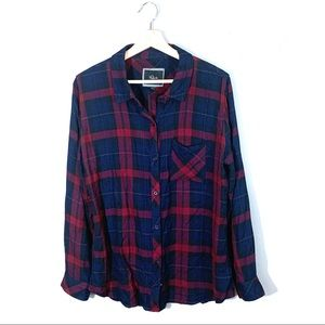 Rails | Plaid Button Down Flannel Red Blue Large